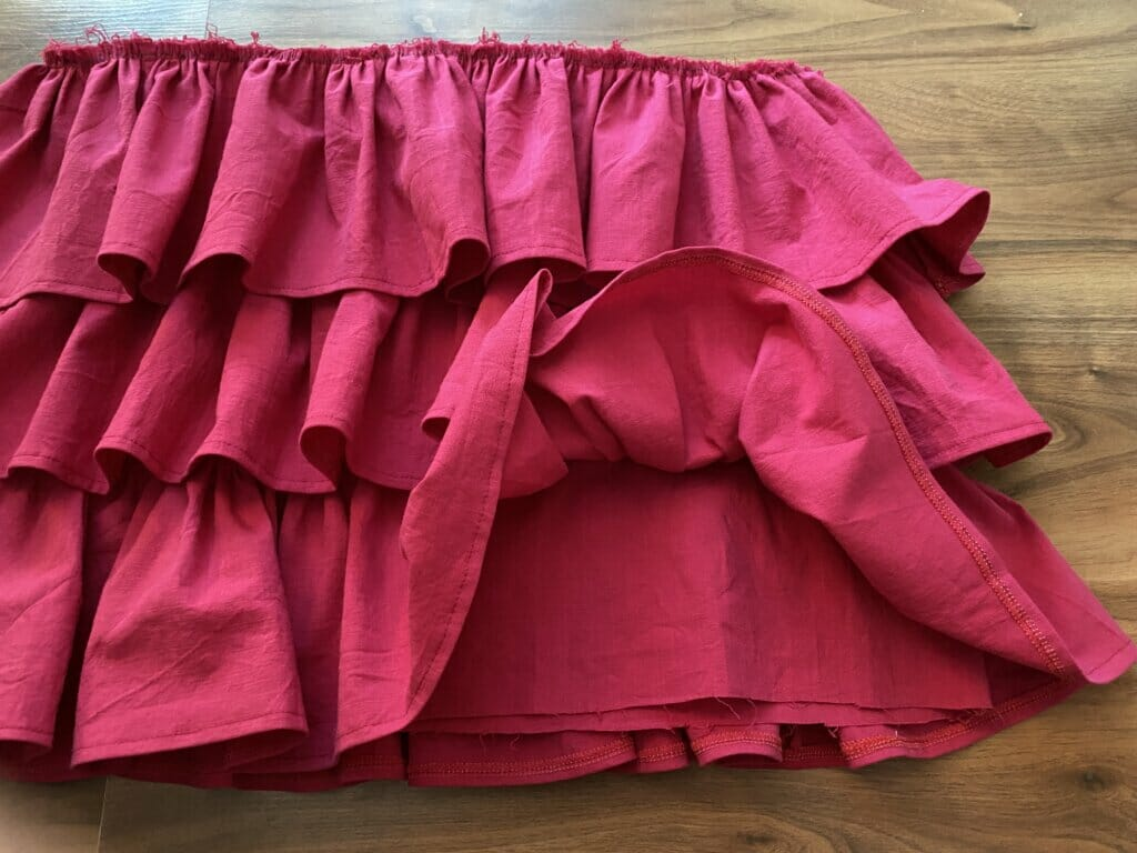 hem the ruffled skirt tutorial