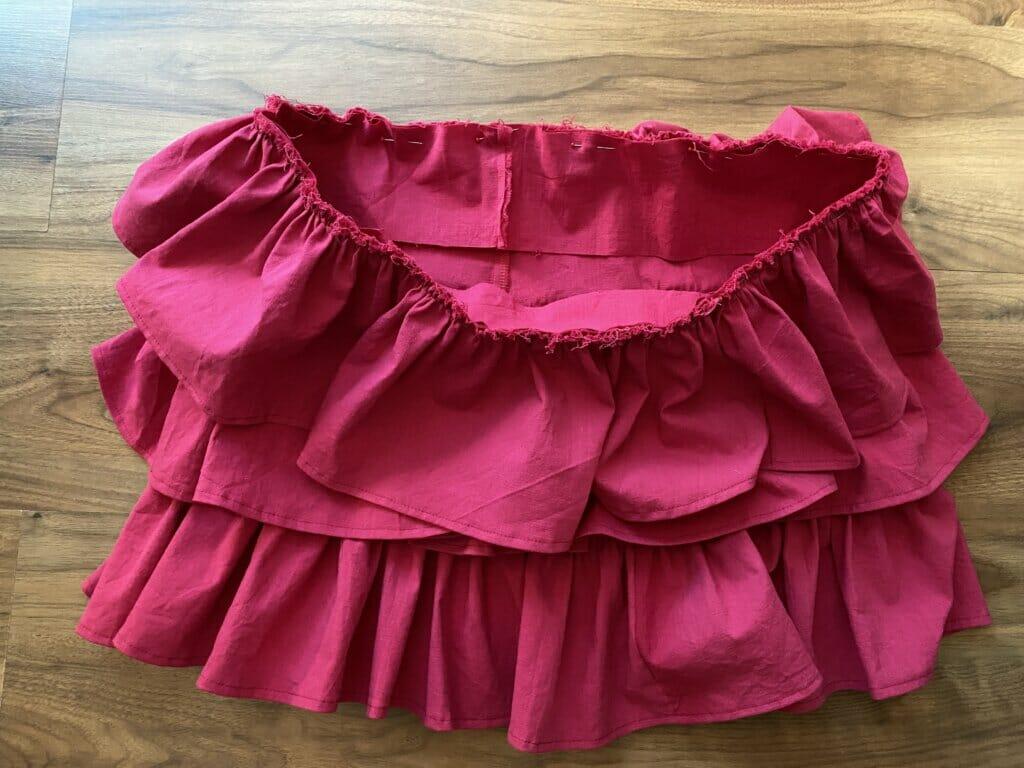 sewing elastic waistband ruffled skirt