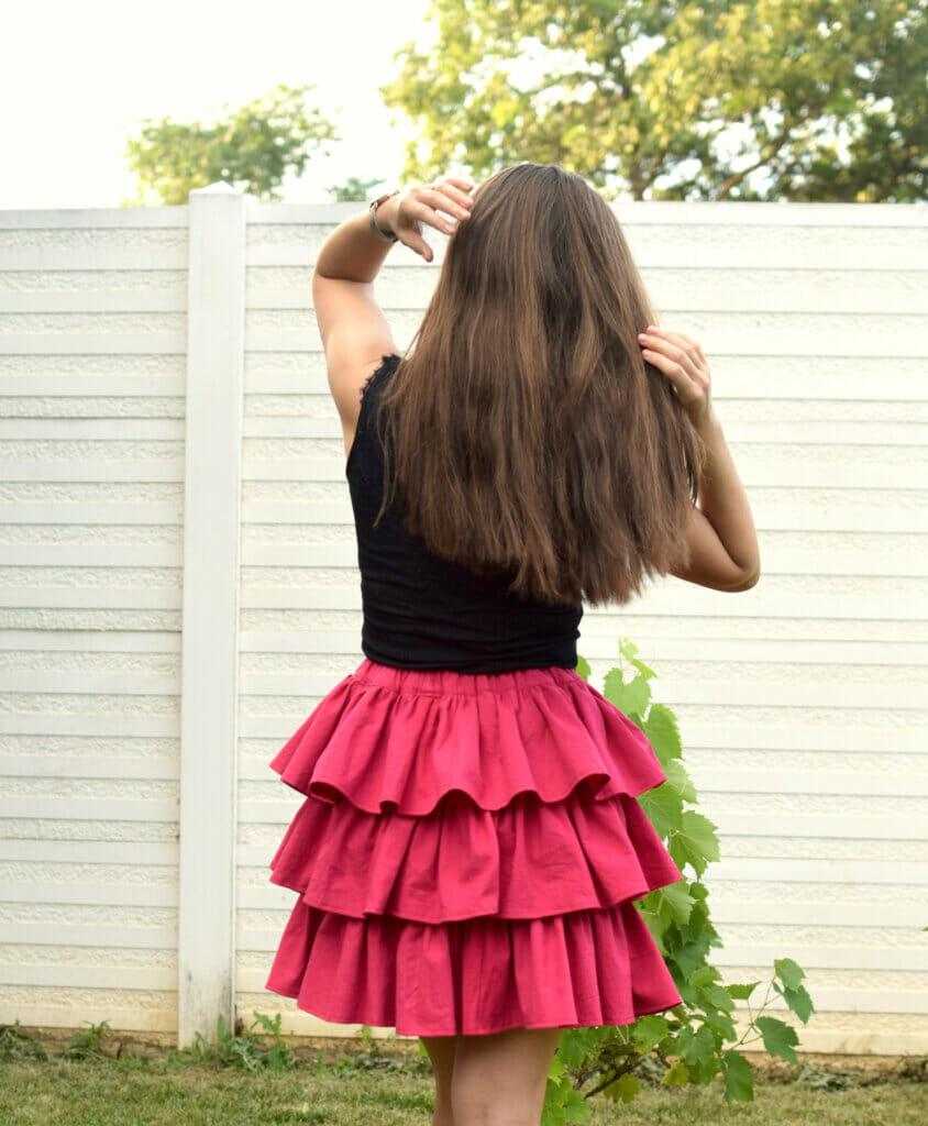 DIY tiered ruffle skirt