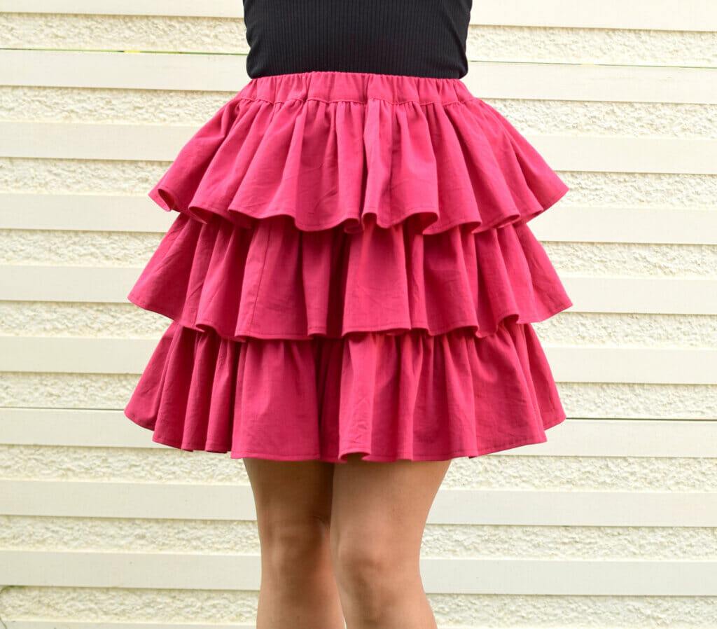 tiered ruffled skirt - free pattern and tutorial