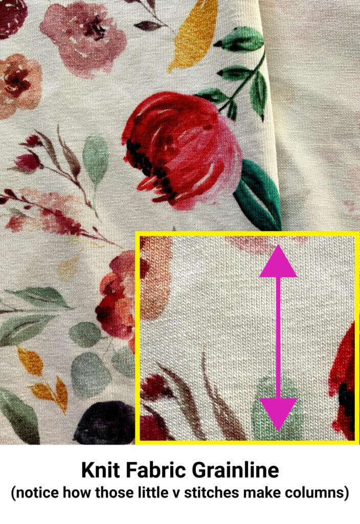 knit fabric grainline