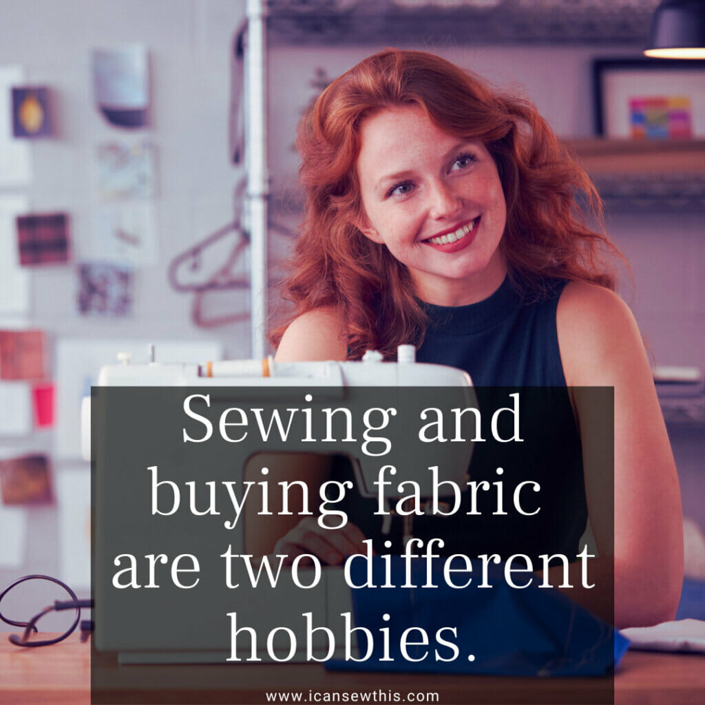 Sewing and buying fabric