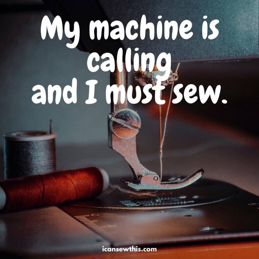 My machine is calling