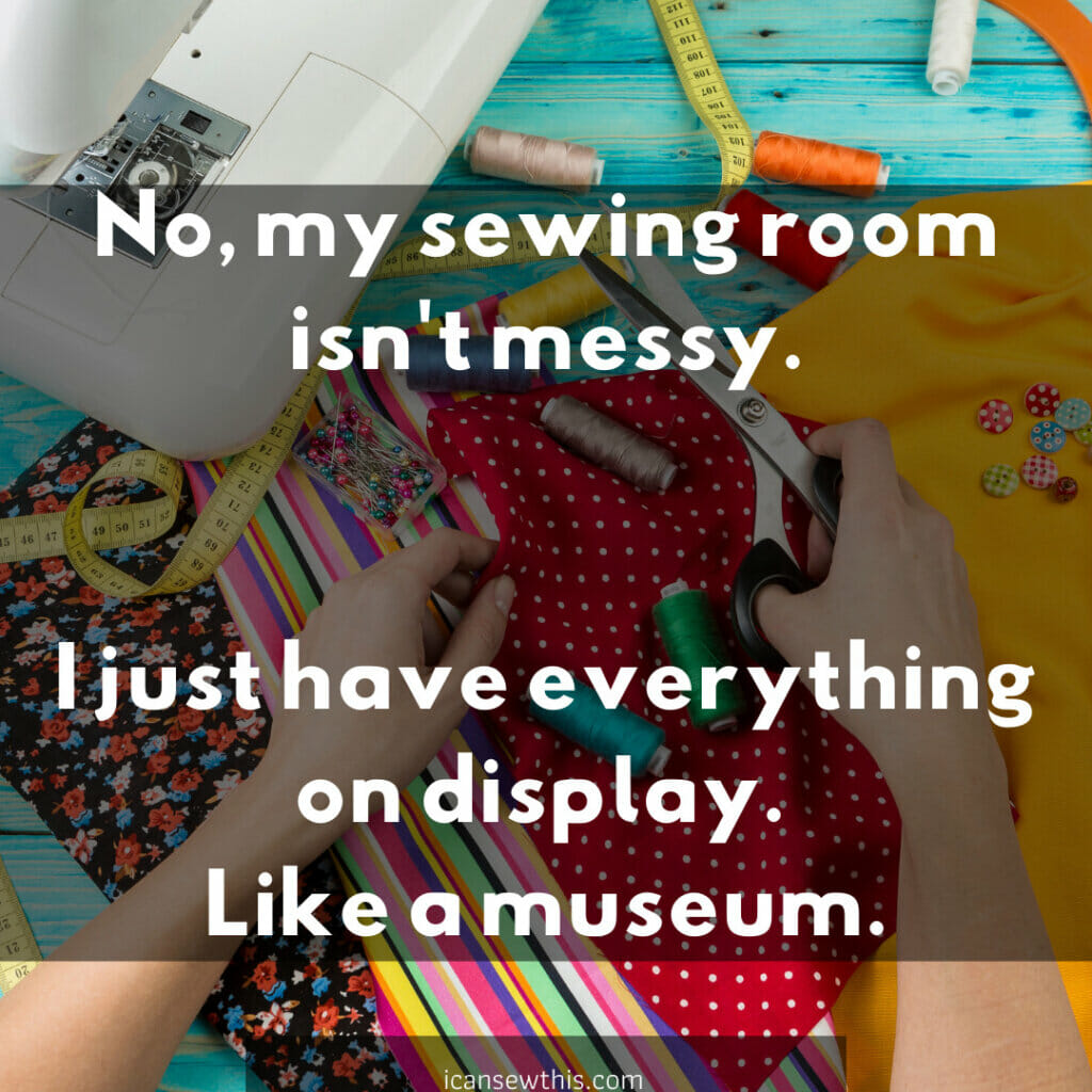 sewing room like a museum
