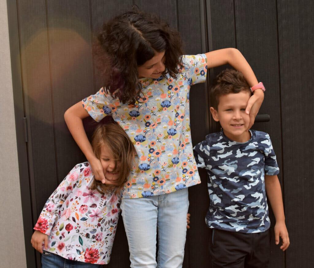 sewing kids T-shirts